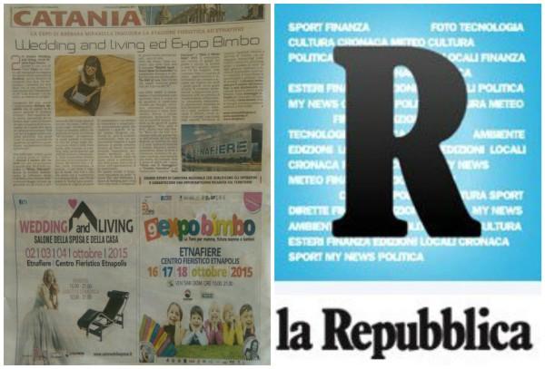 La Repubblica parla di Expo- Wedding and Living ed Expo Bimbo inaugurano la stagione fieristica 2015