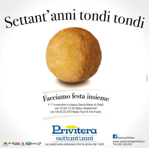 "Expo e Luxury Press ti invitano ai ""SETTANT'ANNI TONDI TONDI"" di Pasticceria Privitera"