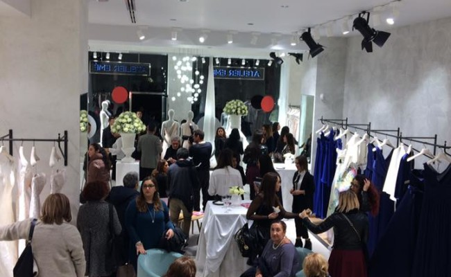 La Expo con la rivista Glamour al Opening Party dell'Atelier Eme'